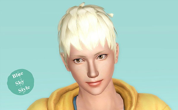 Tachibana hairstyle by Blue Sky for Sims 3