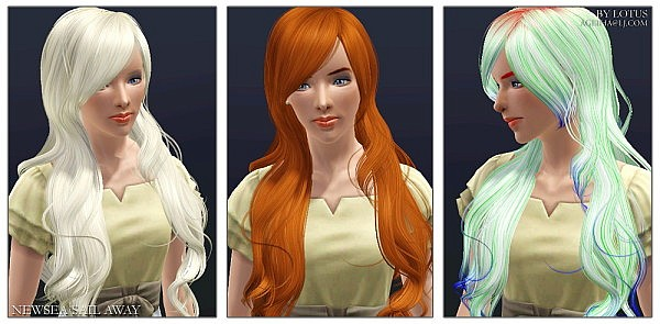 NewSea`s Sail Away hairstyle retexture by Lotus for Sims 3