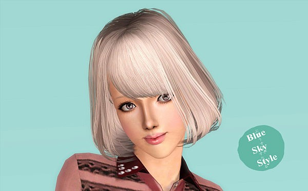 Sakura hairstyle by Blue Sky for Sims 3