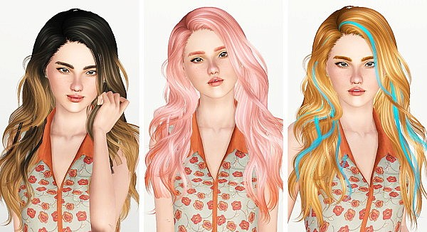 Newsea`s Titanium hairstyle retextured by Thunder Pudding for Sims 3