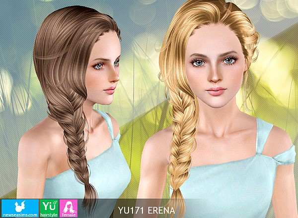 Hairstyles Braids Download: Light Braided Tail Hairstyle YU171 Erena By NewSea