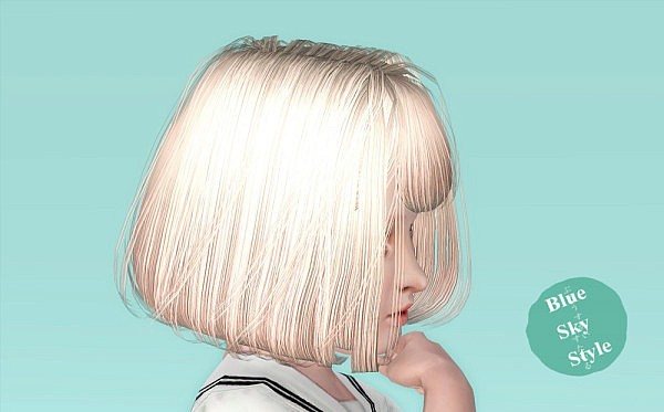 Sakura hairstyle for kids by Blue Sky for Sims 3