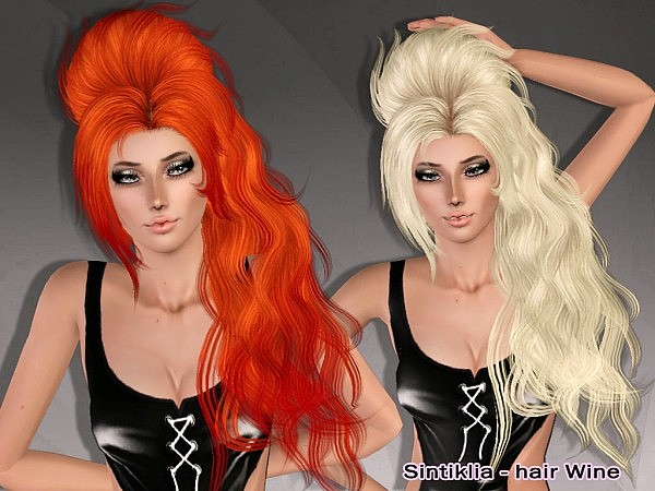 Wine hairstyle by Sintiklia for Sims 3