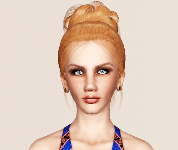 Raonjena 23 hairstyle retextured by Marie Antoinette for Sims 3