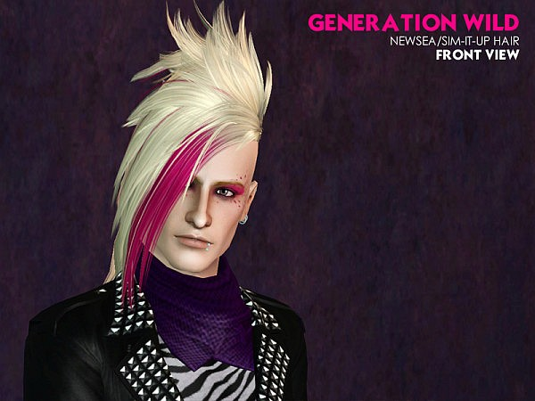 Newsea`s Sims it up hairstyle edited for him by Astraea for Sims 3