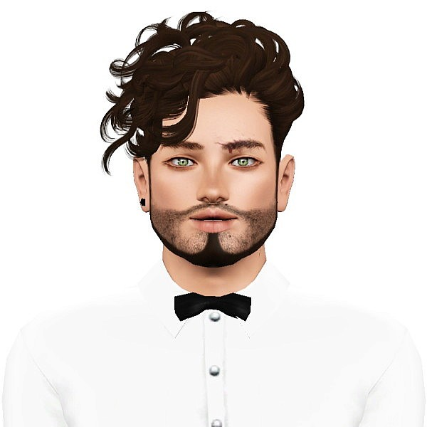 Momo`s Manly Disco Heaven hairstyle retextured by July Kapo for Sims 3