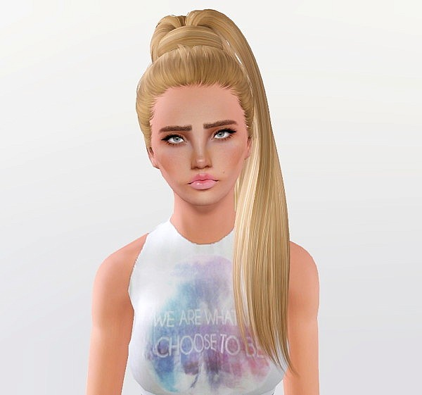 Bfly 132 hairstyle retextured by Monolith for Sims 3