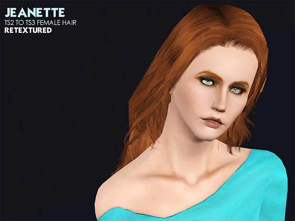 Jeanette hairstyle for her conversions by Astraea for Sims 3