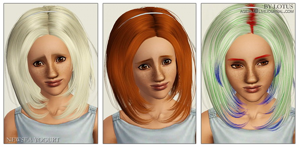 Newsea`s hairstyles retextured by Lotus for Sims 3