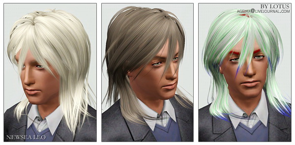 Male and fmale hairstyles retextured by Lotus for Sims 3