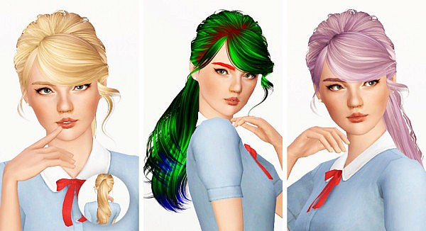 Skysims 140 hairstyle retextured by Sunpi for Sims 3