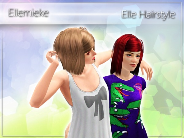 Elle Hairstyle by Ellemieke for Sims 3
