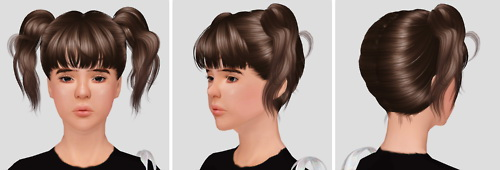 3 newsea hairs mashed into one by Imamii for Sims 3
