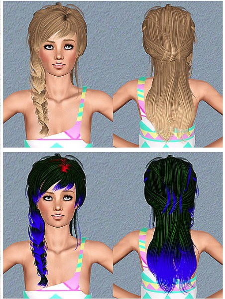Newsea`s Sophie hairstyle retextured by Chantel for Sims 3