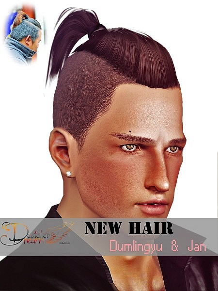 Shaved hairstyle by JJJJJan for Sims 3