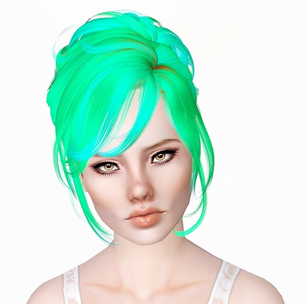 Newsea`s Crescent hairstyle retextured by Monolith for Sims 3