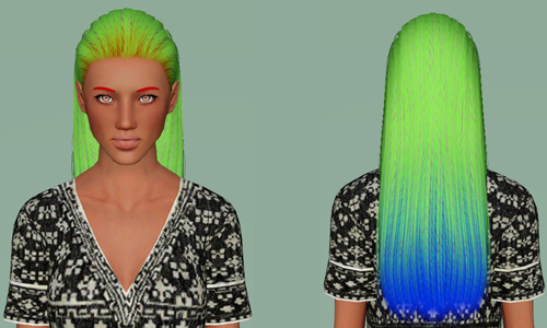 Nightcrawler Caption hairstyle retextured by Electra for Sims 3