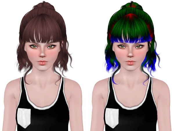 Newsea`s Lavender hairstyle retextured by Neiuro for Sims 3