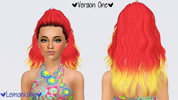 Skysims 204 hairstyle retextured by Lemonkixxy for Sims 3
