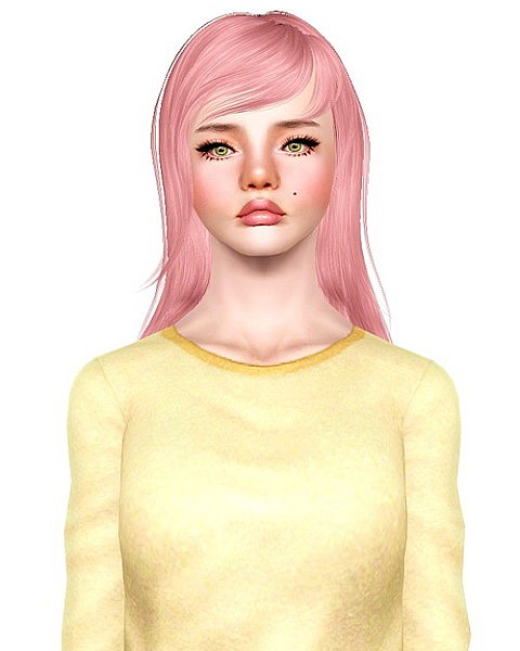 Newsea`s Lilac Fog hairstyle retextured by Bombsy for Sims 3