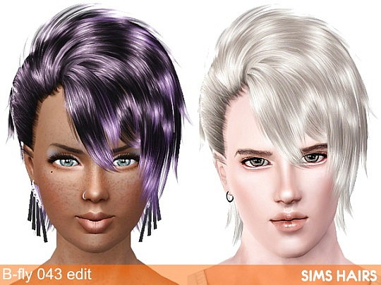 B-fly 043 AM retextured and female enabled by Sims Hairs