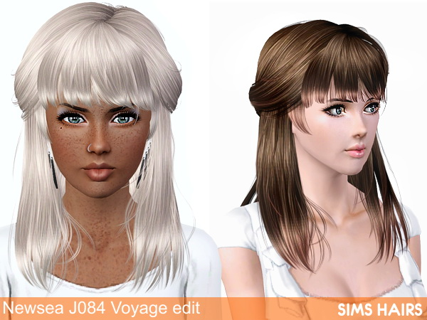 Newsea's J084 Voyage AF hairstyle retextured by Sims Hairs for Sims 3