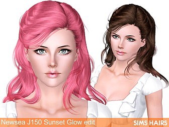 Newsea-J150-Sunset-Glow-hairstyle-retextured-by-Sims-Hairs