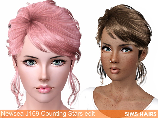Newsea's J169 Counting Stars AF retexture by Sims Hairs for Sims 3