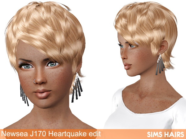 Newsea J170 Heartquake AM AF retextured by Sims Hairs for Sims 3