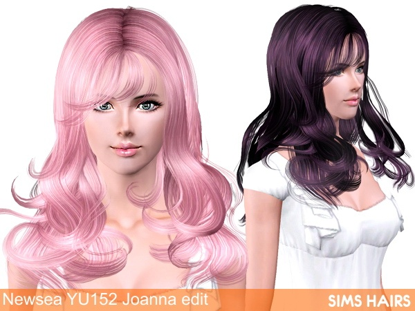 Newsea's YU152 Joanna hairstyle retextured by Sims Hairs for Sims 3