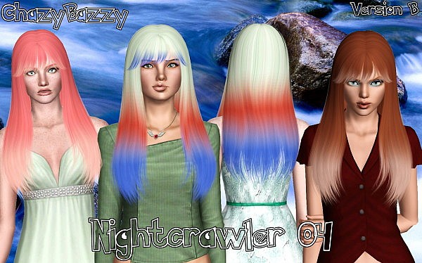 Nightcrawler 04 hairstyle retextured by Chazy Bazzy for Sims 3