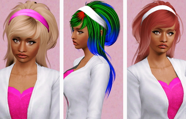 NewSea`s Lilac Fog hairstyle retextured by Beaverhausen for Sims 3