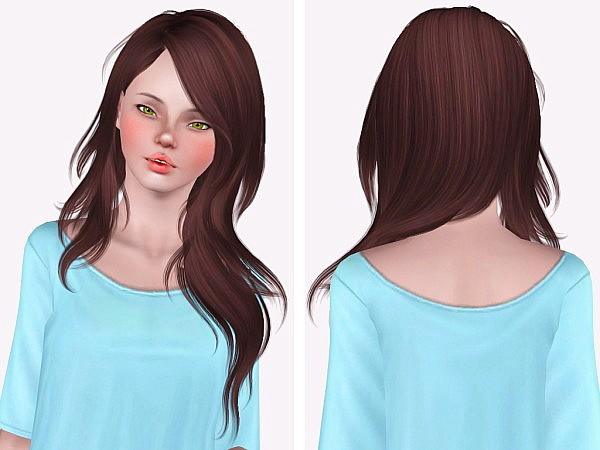 Newsea`s Serenity hairstyle retextured and edit by Neiuro for Sims 3