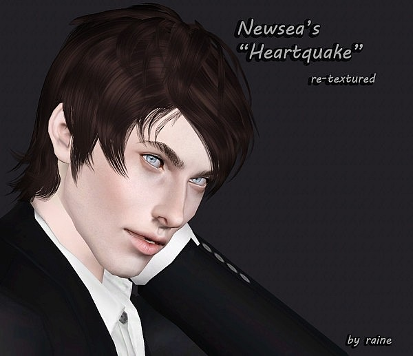 Newsea's Heartquake hairstyle retextured by Raine for Sims 3