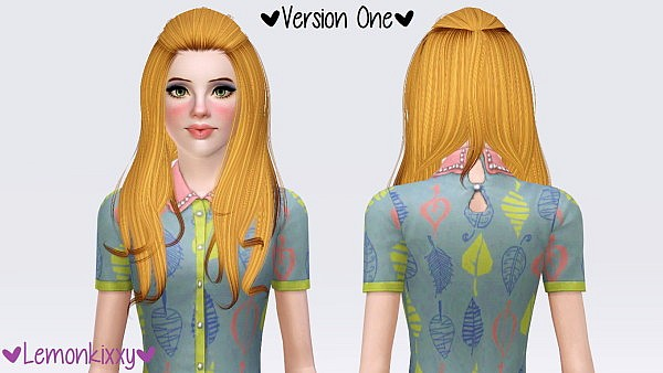 Alesso`s Aurora hairstylke retextured by Lemonkixxy for Sims 3