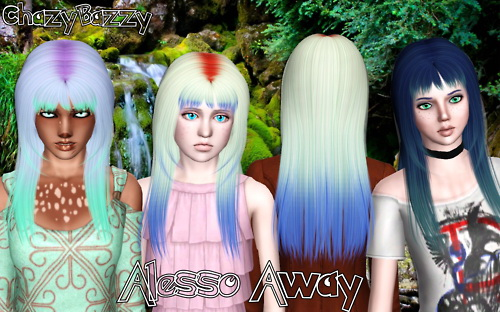 Alesso`s Away hairstyle retextured by Chazy Bazzy for Sims 3