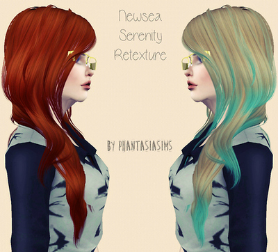 Alesso`s Aurora hairstyle retextured by Phantasia for Sims 3
