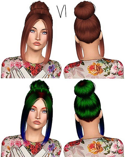 Nightcrawler 06 hairstyle retextured by Chantel Sims for Sims 3