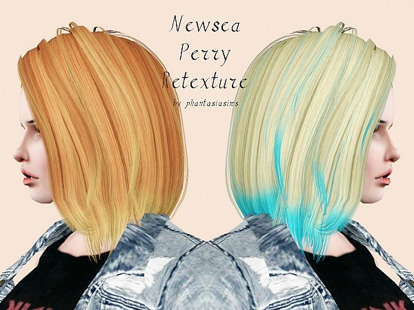 Newsea`s Perry hairstyle retextured by Phantasia for Sims 3