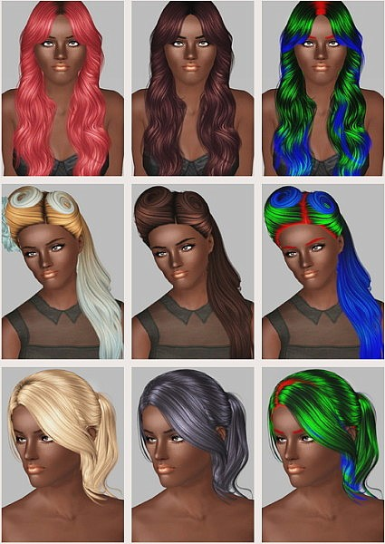 Cazy Weary Star, Nightcrawler 25, Cazy Unofficial hairstyles retextured by Poseidon for Sims 3