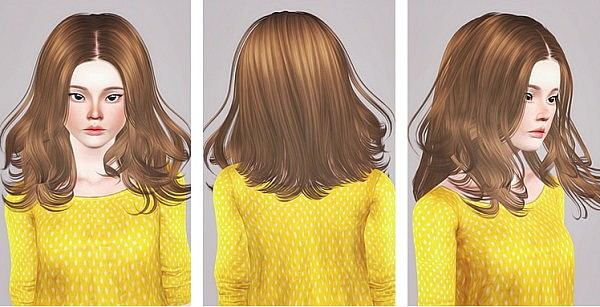 Skysims 048 hairstyle retextured by Liahx for Sims 3