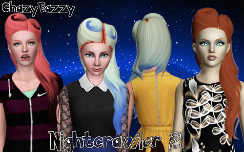 Nightcrawler 21 hairstyle retextured by Chazy Bazzy for Sims 3