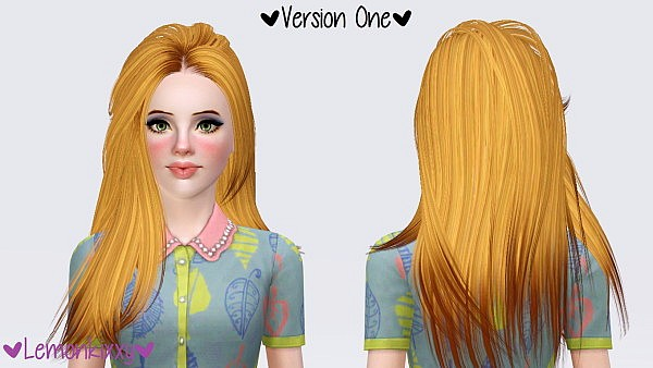 Skysims 215 hairstyle retextured by Lemonkixxy for Sims 3