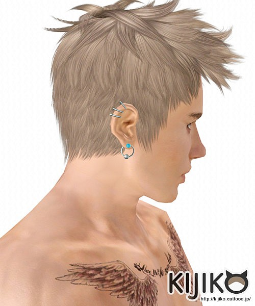 Faux hawk   hairstyle 017 Ocicat by Kijiko for Sims 3