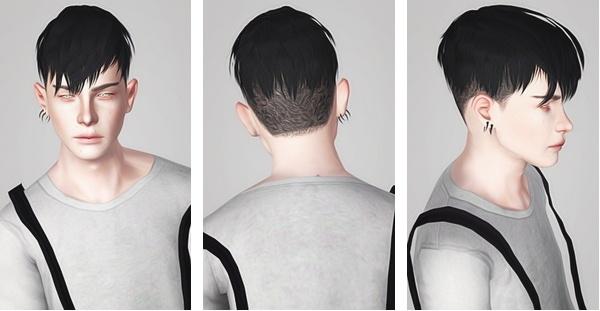 Jjjjjan 09 hairstyle retextured by Liahx for Sims 3