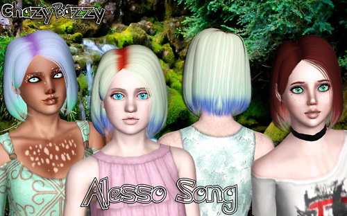 Alesso`s Song hairstyle retextured by Cazy Bazzy for Sims 3