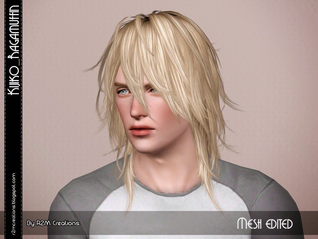 Kijiko Ragamuffin Resized For Male Sims 3 Hairs