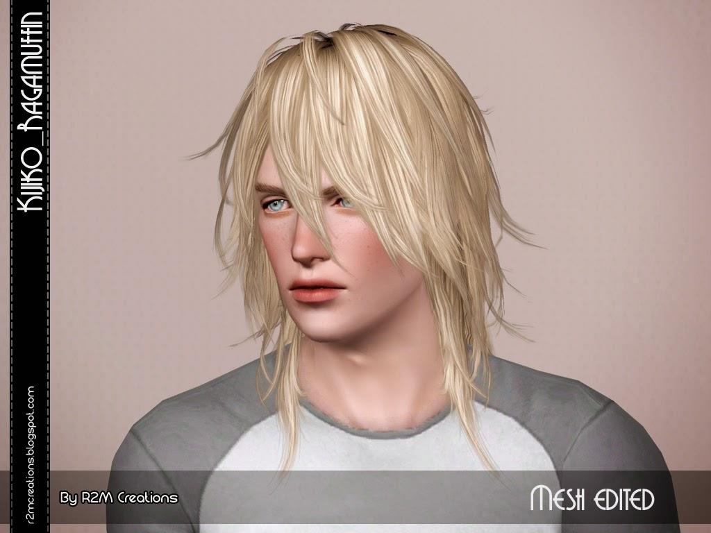 Kijiko Ragamuffin Resized For Male Sims 3 Hairs