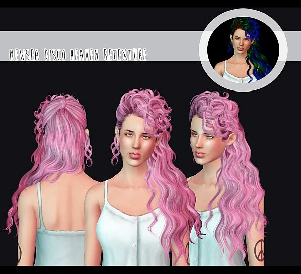 Newsea`s Disco Heaven hairstyle retextured by Kitt for Sims 3