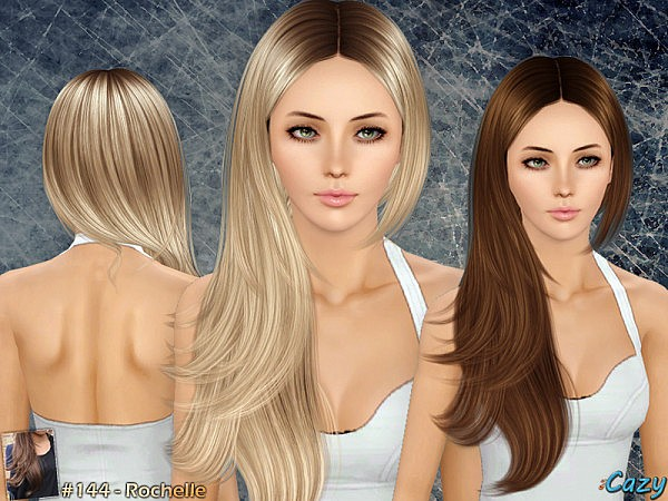 Cazy`s 144 hairstyle retextured by White Crow for Sims 3